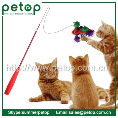 Pet cat teaser toy, Cat rod toys, OEM feather Cat teaser